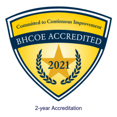BHCOE Accredited Certificate 2021